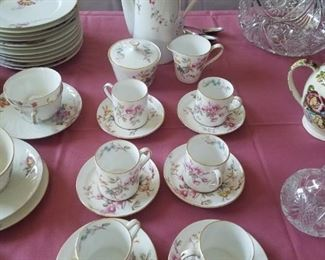 Bone China coffee set, excellent condition.