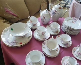 Limoges Coffee set, serving dishes and bowl.