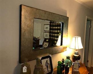 Fabulous metallic looking mirror