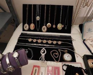 necklaces cameos lockets rhinestone