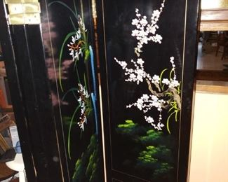 Wonderful stone inlaid screen will be a spectacular addition to your home.