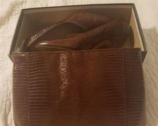 Wonderful Croc Handbag and matching pumps