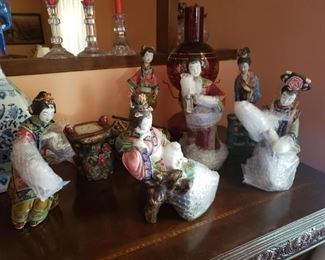 Chinese Shi Wan Porcelain Ladies- amazing collectible!  Buy 1 or set or 6