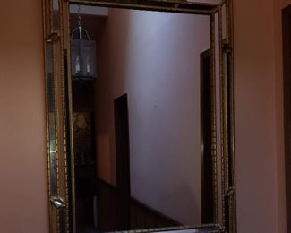 Beautiful etched mirror