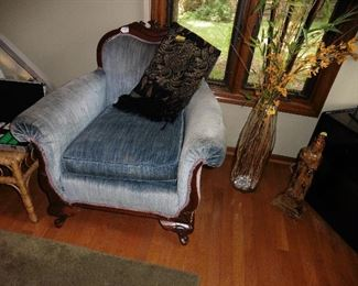 ·Antique Upholstered Arm Chair.