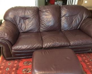 Leather sofa and  loveseat available. Great condition..Ottoman too.