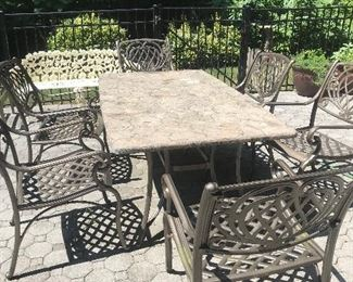 Gorgeous Outdoor Furniture Set with Side Table too.