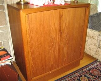 Teak Danish entertainment center