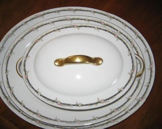 Limoge china with serving pieces