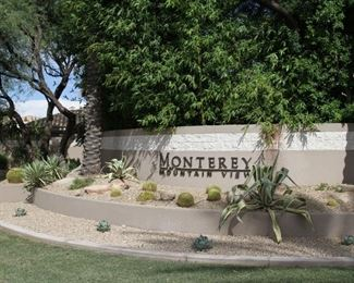 50% Off everything at this ONE DAY BLOWOUT SALE! This is the entrance to the Gated community of Monterey Mountain View.