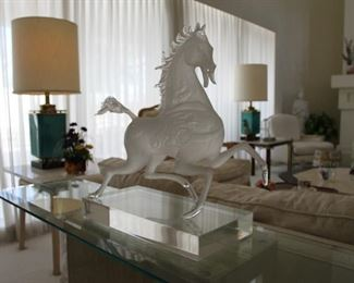 """Black Horse"" Original limited edition Lucite sculpture from San Francisco, CA"