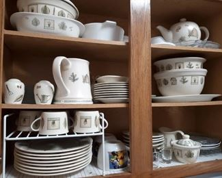 The largest collection I've ever seen of Pfaltzgraff naturewood including Linens and coasters and water pitcher tidbit trays Etc
