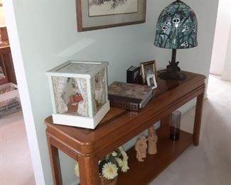 Sofa table and Lee bortin original figurines