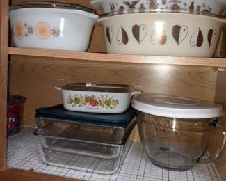 Vintage to contemporary Pyrex cookware