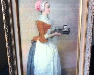 """The Chocolate Girl"" Print by Jean-E'tienne Liotard https://ctbids.com/#!/description/share/199367"