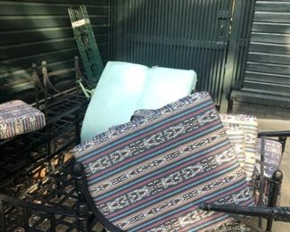 Outdoor furniture and almost new sunbrella cushions