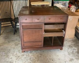 Set of two caned front cabinets