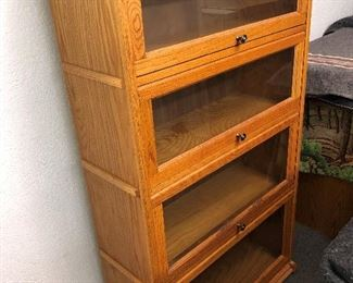 1970s oak law bookcase