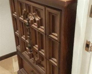 Bedroom set, bed, dresser, chest