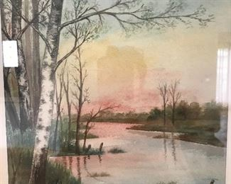 William Krullaars (1878-1945) watercolor signed and dated 1903