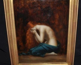 "Original art ""Weeping Magdalene"" atributed to Jean Jacques Henner"