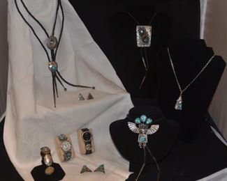 Sterling & silver turquoise jewelry