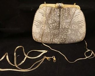 Snake skin purse by Judith Leiber