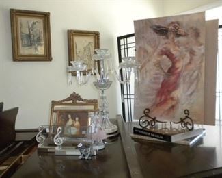 ARTWORK AND CRYSTAL CANDLEABRA
