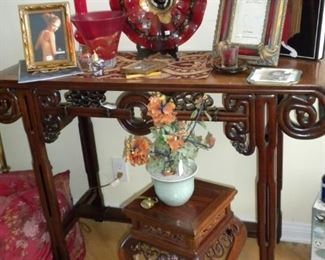 ANTIQUE CHINESE ROSEWOOD CONSOLE