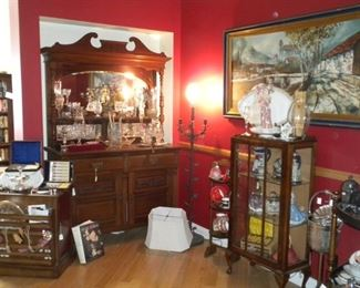 ANTIQUE CHINA BUFFET AND DECOR