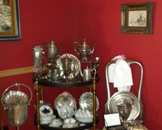 VINTAGE  AND ANTIQUE SILVERPLATE