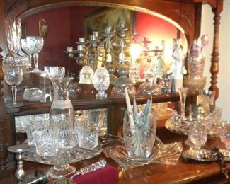 ANTIQUE & WATERFORD CRYSTAL