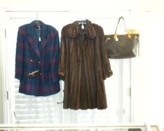 FUR AND VINTAGE MOHAIR COATS