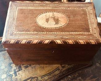19th century inlaid box
