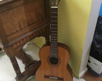 Aria acoustic guitar with original case.
