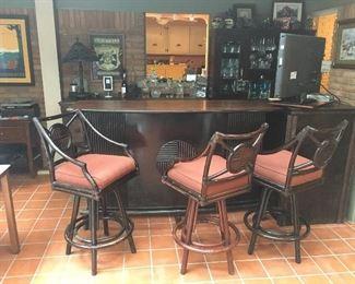 Walnut &bamboo Brand 3 stools