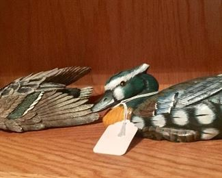 All kinds of duck figurines, decoys etc.