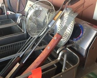 All kinds of outdoor cooking equipment such as fish fryers and grills