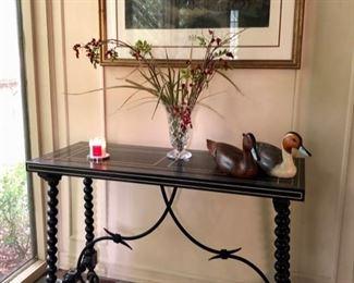 Console table & home decor