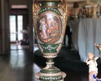 Huge four piece lidded urn
