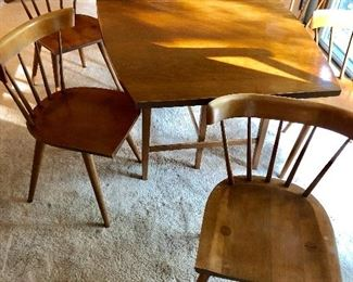 Paul McCob dining table 6 chairs