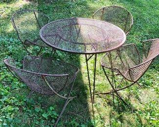 Great midcentury patio set