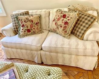 Rolled arm overstuffed sofa by Kellogg Collection.