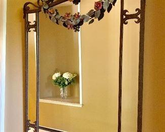 Wrought iron mirror.
