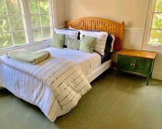 Ethan Allen bedroom set.  Headboard, nightstand, double dresser and armoire.