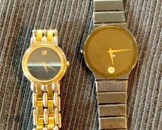Movado watches (Mens and Ladies)