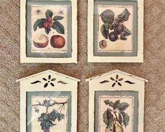 French Country framed fruit.