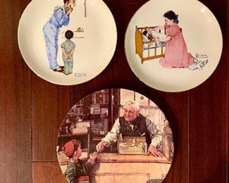 Norman Rockwell Commemorative plates