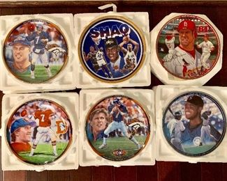 Commemorative sports themed plates