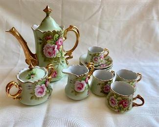Vintage painted tea set